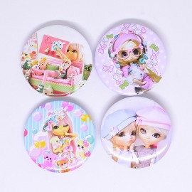 SET Pin Badge Dolls Bh034