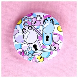 BIG PIN Badge Crazy Places Bh037