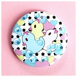BIG PIN Badge Ducks & Stars Bh043