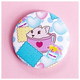 BIG PIN Badge Bunnyccino Bh044