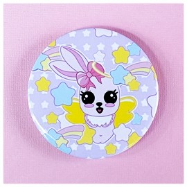 BIG PIN Badge Flying Bunny Bh048