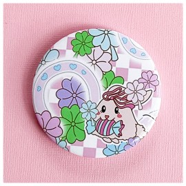 BIG PIN Badge Lucky Bunny Bh049