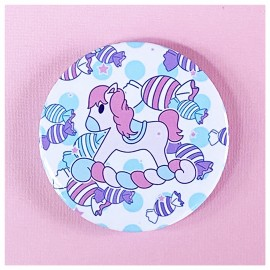 BIG PIN Badge Rocking Pony Bh051