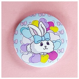 BIG PIN Badge Fluffy Bunny Bh038